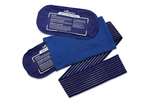 Medvice 2 Reusable Hot and Cold Ice Packs for Injuries, Joint Pain, Muscle Soreness and Body...