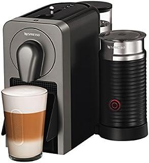 Krups Nespresso Prodigio und Milk XN411T Kaffeekapselmaschine (mit Bluetooth und Aeroccino, Thermoblock-Heizsystem, 19 bar) titan