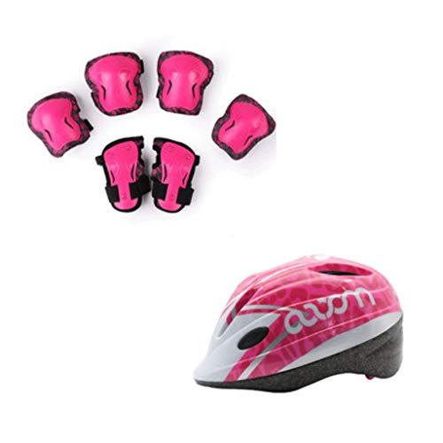 DJL Skating helm voor kinderen, beschermingsuitrusting voor op de fiets, scooter, balance, auto, sport, onbreekbaar, skates en kniebeschermers