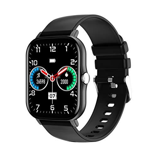 ZGNB Nuevo KT48 Smart Watch Men's Bluetooth Fitness Touch Fitness Tracker Sangre Heart Rase Tracker IP67 Waterproof Sport Watch para iOS Android,B