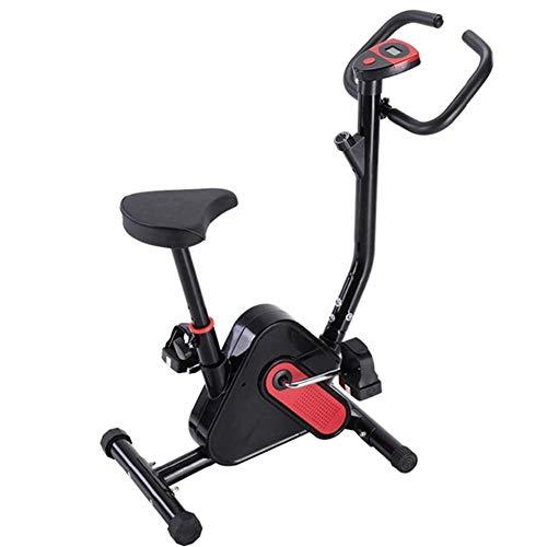 NFJ Bicicleta estática Ergometer para salud y fitness con pantalla LCD digital, niveles de resistencia ajustables, sillín y manillar ajustables