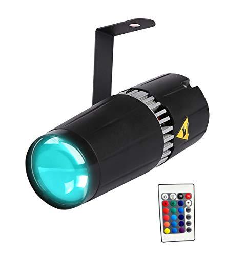 LED pinspot La luz,TOM LED 9W RGB 3 - en - 1 pinspot Light y haz las luces del escenario por el controlador remoto IR