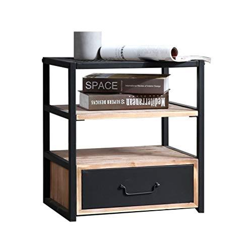 LSX-salontafel kleine koffietafel, nachtkastje opbergkast bijzettafel industriële wind retro creatieve Scandinavische eenvoudige vierkant massief hout kantoor bijzettafel