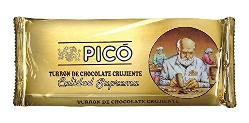 Pack 5 Unidades Turrón de Chocolate Crujiente Picó con arroz inflado Calidad Suprema 200grs