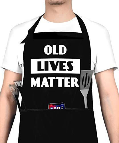 Old Lives Matter Apron- Funny Birthday or Retirement Gift for Senior...