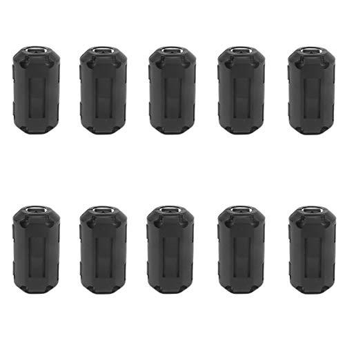 Haude Paquete de 10 Filtros Supresores de Ruido de CordóN de Anillo de Cuentas de 3,5 Mm de DiáMetro una PresióN para Cables Industriales de LíNea de AlimentacióN de Cable HDMI