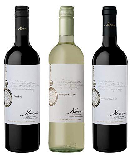Atlantik Weine, Südamerika Weinpaket Angulo Innocenti mit Rotwein und Weißwein aus Argentinien, Malbec Sauvignon Blanc und Cabernet Sauvignon aus Mendoza, trocken (3 x 0,75l)