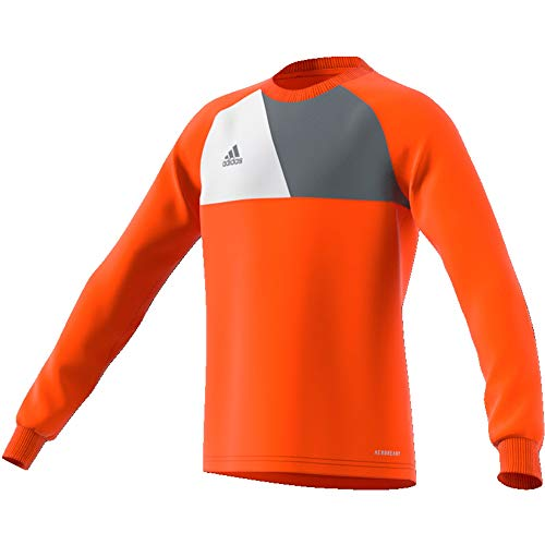 adidas Kinder Assita Goalkeeper Jersey Longsleeve Torwarttrikot, orange/White, 140