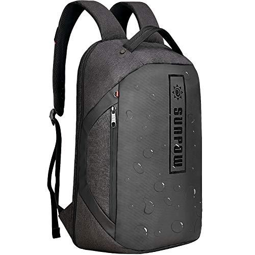Laptop Rucksack 15,6 Zoll - Rucksack Laptop Wasserdicht SUNPOW, Daypack Herren Anti Diebstahl geeignet für Schule, Arbeit, Reisen, Business, Schwarz