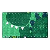 huhulala Alfombrilla antideslizante para bañera para niños y bebés, accesorio para bañera, diseño de dinosaurios, color verde