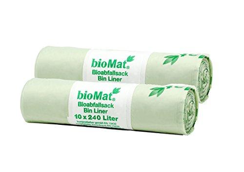 240 Lt. BIOMAT® kompostierbare Abfallsäcke (2 x 10 Stk. Müllsäcke)