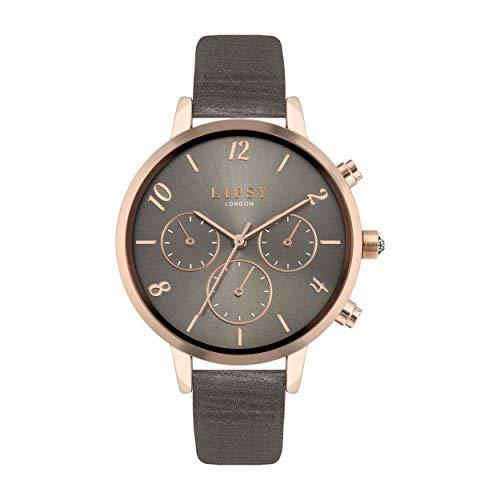 Lipsy Damen Analog Quarz Uhr mit PU Armband LP672
