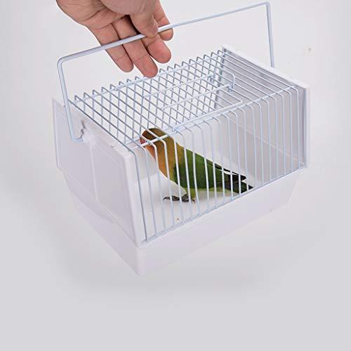 Pájaros Jaulas Jaula de pájaro, Transporte caja for pequeñas aves y pequeños animales, animal doméstico del cinturón de seguridad Titular llevan la manija Small Animal Transportador, 2 colores
