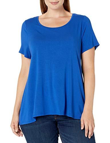 Amazon Essentials Camiseta de Manga Corta con Cuello Redondo-Tallas, Azul Cobalto, XL Grande