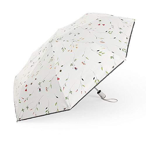 WENSISTAR Non Slip Tyre Style Handvat Paraplu, Zwart plastic zonnescherm paraplu, automatische schakelaar paraplu, bloemen paraplu, Omgekeerde vouwen Omgekeerde Paraplu