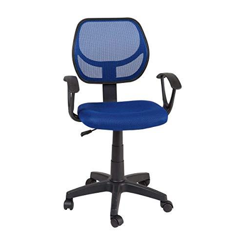 RAC TLV-MC009-BLUE Silla de Oficina Giratoria Ajustable Con Reposabrazos Escritorio Sillon Despacho, AZUL
