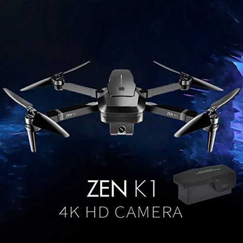Lukame✯Drone Uav,Nuevo Visuo Zen K1 Gps 5G Wifi Fpv 4K 720P Cámara Dual Sin Escobillas Plegable Rc Drone Rtf