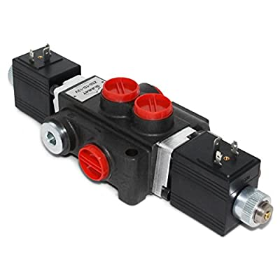 Hydraulic Monoblock Solenoid Directional Control Valve, 1 Spool, 13 GPM, 12V DC by Summit Hydraulics