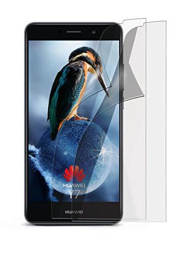 2X Huawei Y7 / Y7 Prime (2017)| Schutzfolie Matt Display Schutz [Anti-Reflex] Screen Protector Fingerprint Handy-Folie Matte Displayschutz-Folie für Huawei Y7 / Y7 Prime (2017) Displayfolie