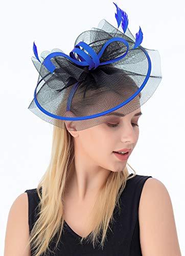 Myjoyday Fascinators for Women Derby Headband Wedding Tea Party Hats Hair Clip for Girls