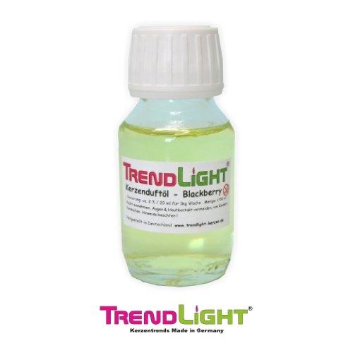 TrendLight Kerzen Duftöl Blackberry 50 ml hochkonzentriert zum herstellen von Duftkerzen
