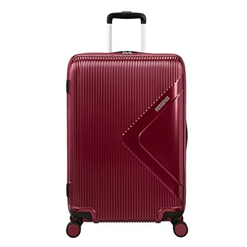 American Tourister Modern Dream Spinner Espandibile Valigia, 68.5 cm, 81 L, Rosso (Wine Red)