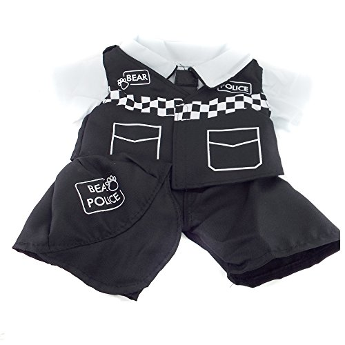 Police Policeman UK Bear 4 piece Outfit Bear Clothes fits 15-16 inch (40cm) Teddies & Build a Bear