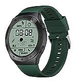 LXQGR Smart Watch 1.3 Pollici HD Schermo Rotondo IP68 Impermeabile Multifunzionale Smart Watch Cinturino in Silicone Verde