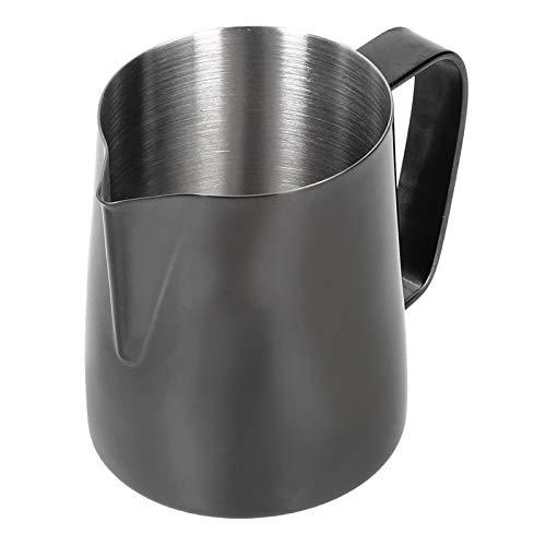 SJSP Taza de café de Cocina, Taza de café Multifuncional, Jarra de Espuma de Leche, Taza de Latte de Acero Inoxidable con asa(Metro)