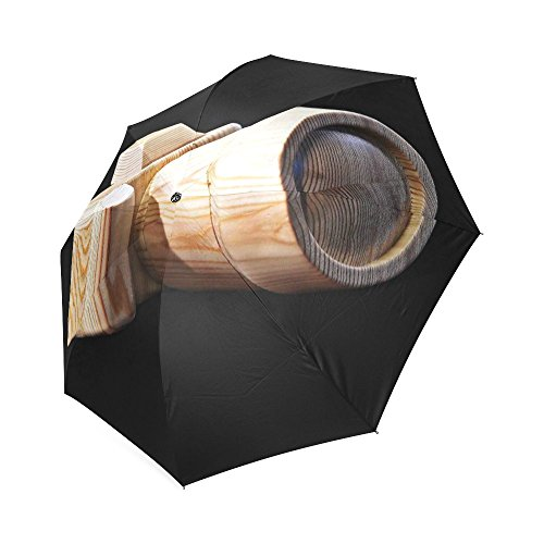 Houten Camera Beste Paraplu's Winddicht Automatisch Compact Regen Reizen Paraplu