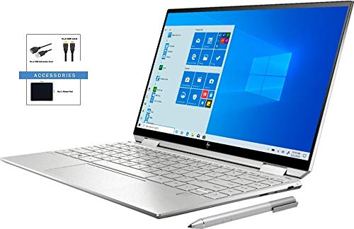 HP Spectre x360 2-in-1 13.3' FHD High Performance Laptop w/ Accessories | 10th Gen Intel Core i7-1065G7 | 8GB RAM | 512GB SSD+32GOptane | Fingerprint Reader | Backlit Keyboard | Windows 10