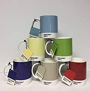 Whitbread Wilkinson Pantone Bone China Mug, Mixed Colors 2009, Pack Of 6