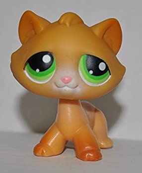 Tabby Kitten #110  Orange Green Eyes  - Littlest Pet Shop  Retired  Collector Toy - LPS Collectible Replacement Single Figure - Loose  OOP Out of Package & Print