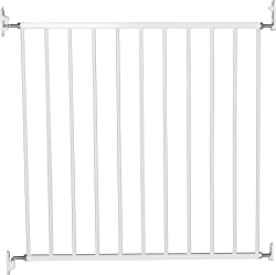 Wall Type: Includes stop pins for mounting at the top of stairs Features wide walk-through section and a no-trip bar Quick-release fittings for removal when not required Includes stop pins for mounting at the top of stairs Two-way one-handed opening ...
