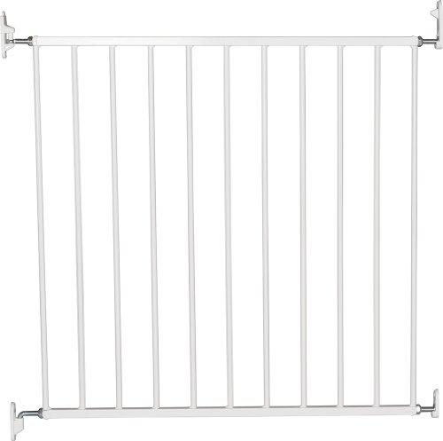BabyDan No Trip Screw Mounted Safety Gate, White -72-78.5 cm, Screw Fit