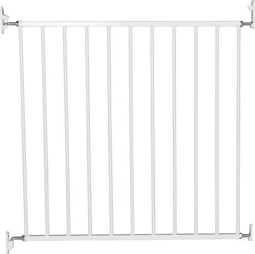 BabyDan No Trip Screw Mounted Safety Gate, White -72-78.5 cm, Screw Fit