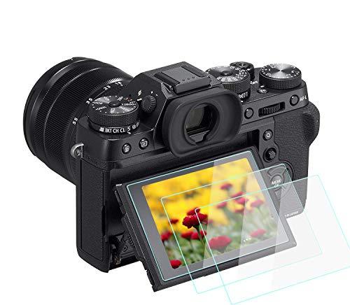 Komet - Protector de Pantalla de Cristal para Fujifilm X-T2 X-T1, película de Vidrio Templado antiburbujas, Anti-rayaduras, para cámara X-T2 X-T1 DSLR (2 Unidades)