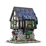 Onenineten Juego de construcción para casa, 2997 piezas Cottage en estilo medieval, maqueta de construcción modular DIY, bloques de construcción, edificios compatibles con Lego medieval Forja 21325