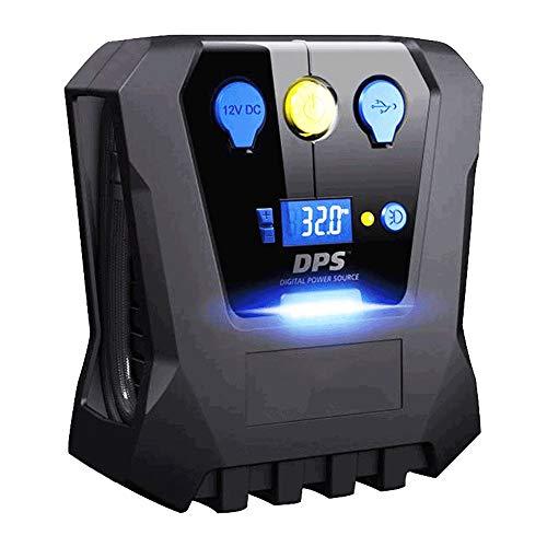 WNN-URG Portátil compresor de Aire de Bomba 12V - Digital neumático del - Auto Bomba de Rueda de Emergencia con iluminación LED for el Coche - Moto URG