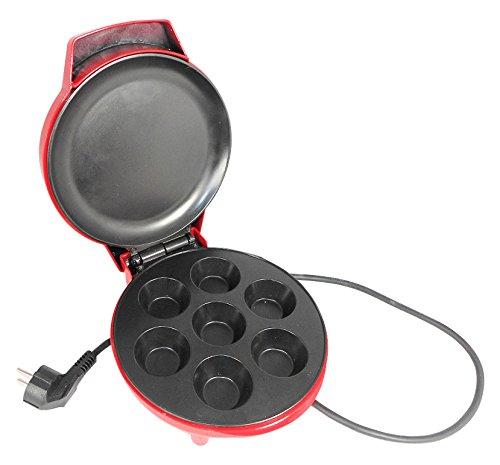 Jocca 5512 Máquina de hacer cupcakes, color rojo, 900 W, Aluminio