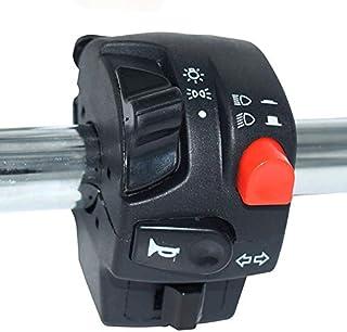 "Zhengpingpai 22mm 7/8"" Universal Aluminum Alloy Motorcycle Switch Button Handlebar Assembly Fleeting Latching Unaccented S..."