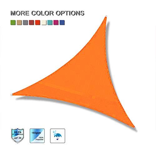 Laxllent Voiles d'Ombrage Anti UV Toile Solaire Voile Triangulaire Tissu impermable l'eau en Polyester pour Voiture,Restaurant,Jardin,