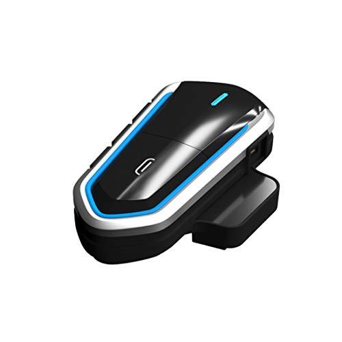 COFFEE CAT Interfono Casco Bluetooth per Moto Auriculares Inalámbricos Bluetooth Recargables A Prueba De Agua con Micrófono Radio FM MP3