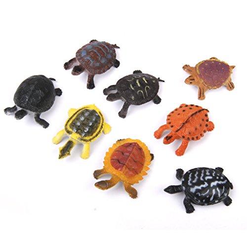 Gazechimp 8pcs Modèles Tortues En Plastique PVC Figurine Animal Jouet Enfants Cadeau Décor