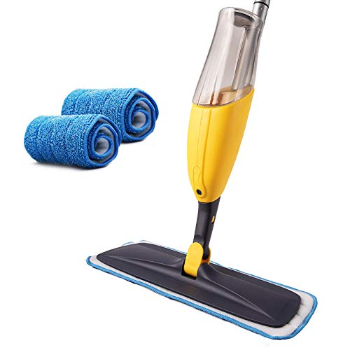 Microfiber spray mop system for cleaning dust and dirt