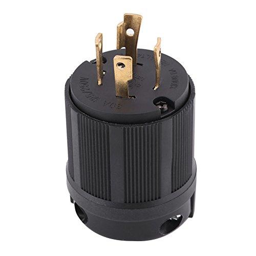 Enchufe de bloqueo de giro, NEMA L14-30P 30A 125V-250V Conector de enchufe...