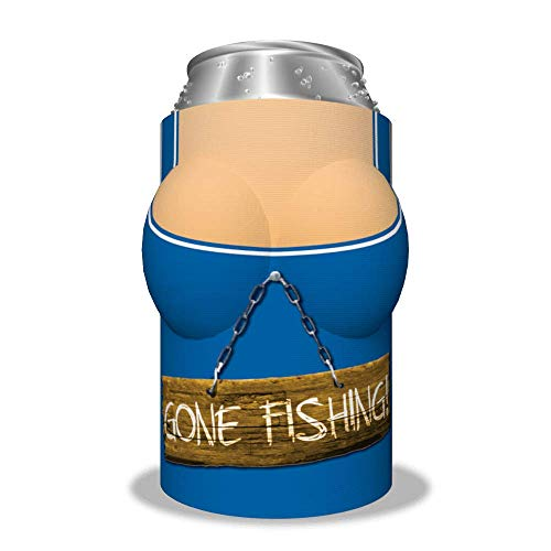 "Boobzie (Sporty Collection) ""Gone Fishing"" Insulated Can Cover"