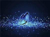バタフライアニマルDIY5Dフルダイヤモンドペインティングbyナンバーキットラインストーン刺繡クロスステッチアートクラフトキャンバス壁の装飾(正方形40x60cm)