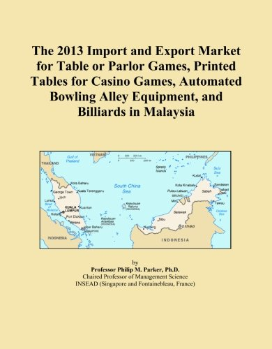 The 2013 Import and Export Market for Table or Parlor Games, Printed Tables for Casino Games, Automated Bowling Alley Equipment, and Billiards in Malaysia