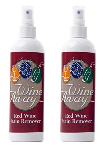 Wine Away Red Wine Stain Remover - Perfect Fabric Upholstery and Carpet Cleaner Spray Solution - Removes Wine Spots - Spray and Wash Laundry to Vanish Stain - Wine Out - Zero Odor - 12 Ounce, 2 Pack